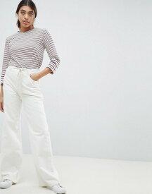 エイソス レディース デニムパンツ ボトムス ASOS DESIGN Skater Jeans In Aged White With Rope Belt Aged white
