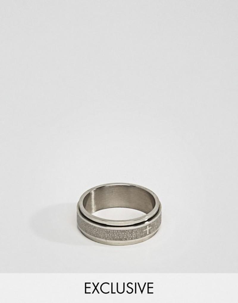 スティーブンロンドン メンズ 指輪 アクセサリー Seven Engraved Ring Exclusive To ASOS Silver