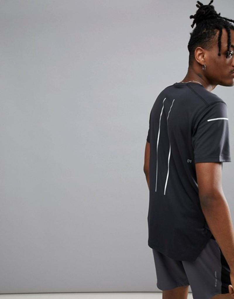 アシックス メンズ Tシャツ トップス Asics Running Lite-Show Reflective T-Shirt In Black 154572-0904 Black