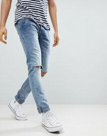 ブレンド メンズ デニムパンツ ボトムス Blend Cirrus Distressed Ripped Skinny Jeans Bluey grey