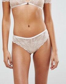 エイソス レディース パンツ アンダーウェア ASOS Bea Lace French Underwear Vintage peach