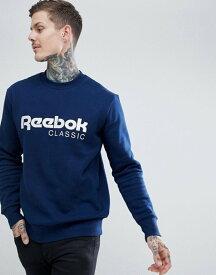 リーボック メンズ パーカー・スウェット アウター Reebok Classic Logo Sweatshirt In Navy CZ0302 Navy