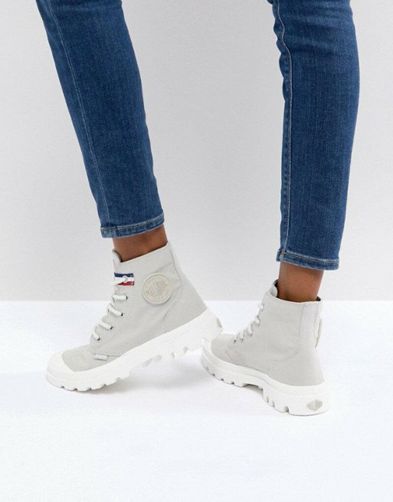 パラディウム レディース ブーツ・レインブーツ シューズ Palladium Pampa Gray Hi Rive Gauche Flat Ankle Boots Rainy day/french tap