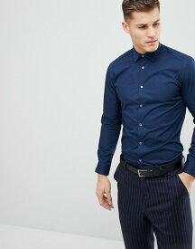 フレンチコネクション メンズ シャツ トップス French Connection Slim Fit Poplin Shirt Marine