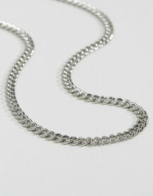エイソス メンズ ネックレス・チョーカー アクセサリー ASOS Midweight Chain Silver