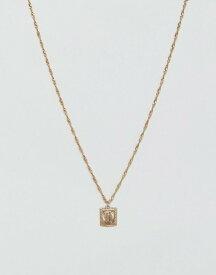 エイソス メンズ ネックレス・チョーカー アクセサリー ASOS Sovereign Medallion Necklace In Gold Gold
