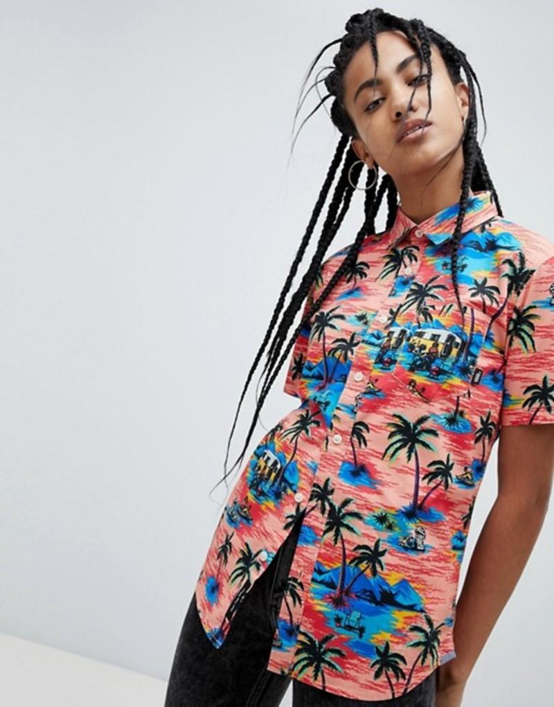 バンズ レディース シャツ トップス Vans Tropical Hawaiian Print Shirt Floral