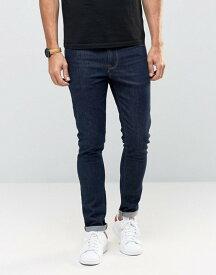 エイソス メンズ デニムパンツ ボトムス ASOS Super Skinny Jeans In Raw Blue Indigo