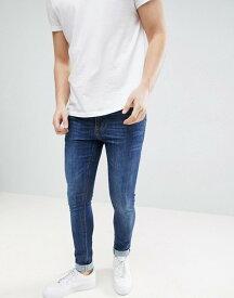 エイソス メンズ デニムパンツ ボトムス ASOS Super Skinny Jeans In Dark Wash Blue