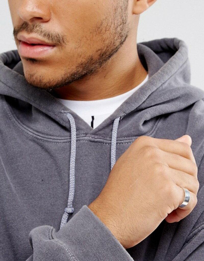 エイソス メンズ 指輪 アクセサリー ASOS Plain Band Pinky Ring In Silver Silver