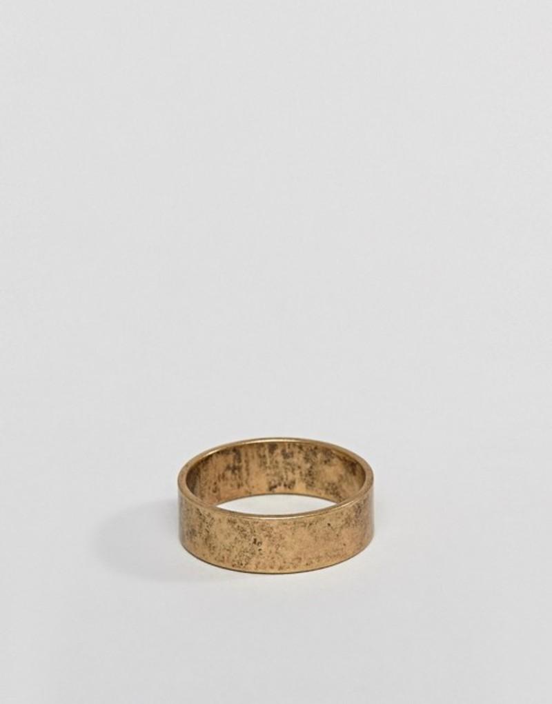 エイソス メンズ 指輪 アクセサリー ASOS Ring In Burnished Gold Gold