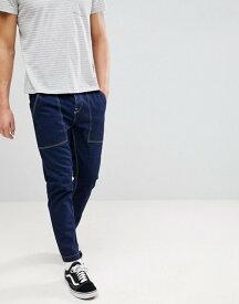 エイソス メンズ デニムパンツ ボトムス ASOS Tapered Jeans In Recycled Cotton Indigo