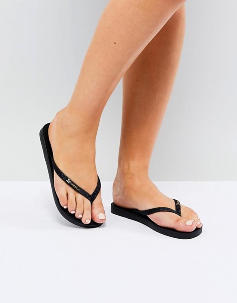 イパネマ レディース サンダル シューズ Ipanema Sparkle Flip Flops Black