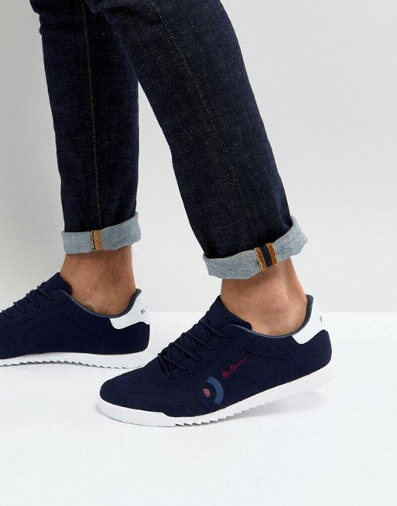 ベンシャーマン メンズ スニーカー シューズ Ben Sherman Retro Target Sneakers Navy Suede Blue