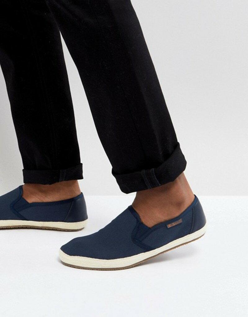 ベンシャーマン メンズ スニーカー シューズ Ben Sherman Canvas Sneakers Blue
