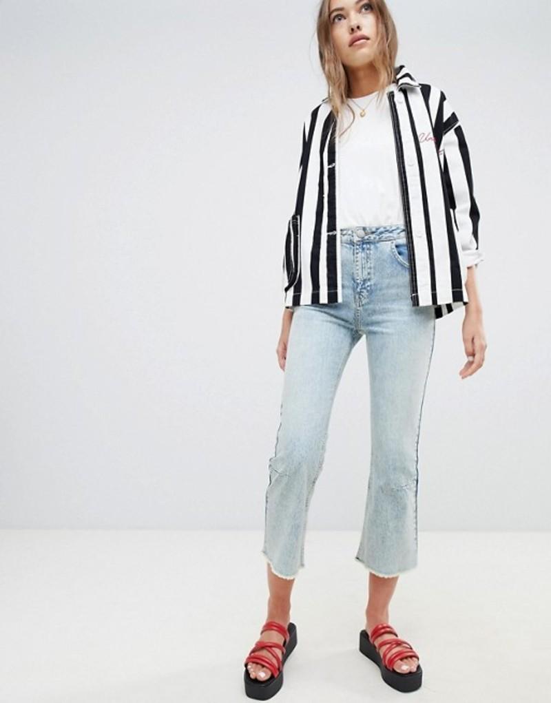 エイソス レディース デニムパンツ ボトムス ASOS DESIGN Egerton rigid cropped flare jeans with darts in light vintage wash Vintage mid wash