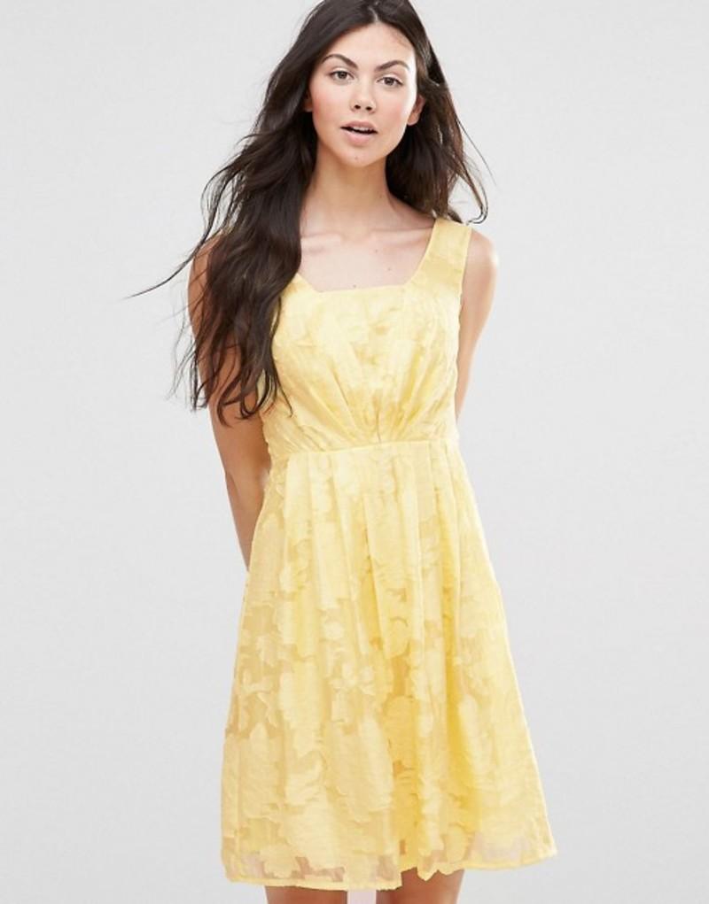 ユミキム レディース ワンピース トップス Yumi Organza Dress Yellow