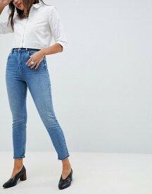 エイソス レディース デニムパンツ ボトムス ASOS DESIGN Farleigh high waist slim mom jeans in light stone wash Blue