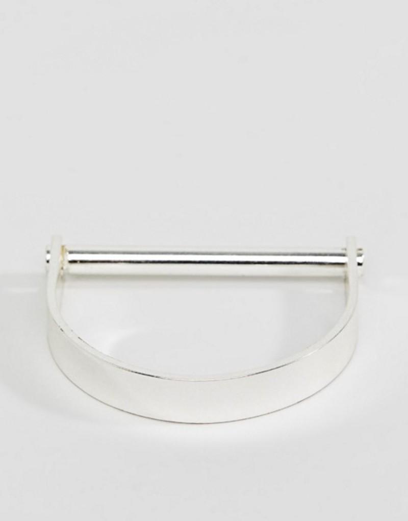 ピルグリム レディース ブレスレット・バングル・アンクレット アクセサリー Pilgrim silver plated chunky structured bracelet Silver