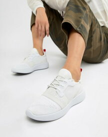 カルバンクライン レディース スニーカー シューズ Calvin Klein Meryl knit white logo sneakers White