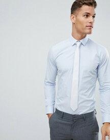 フレンチコネクション メンズ シャツ トップス French Connection Slim Fit Poplin Shirt Soft blue