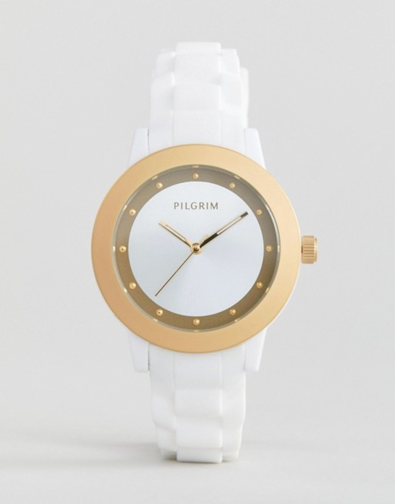 ピルグリム メンズ 腕時計 アクセサリー Pilgrim Watch With White Strap White