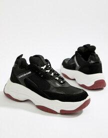 カルバンクライン レディース スニーカー シューズ Calvin Klein Black Maya Mesh And Suede Fashion Sneakers Black