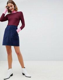 ウエアハウス レディース スカート ボトムス Warehouse cord mini skirt in navy Navy