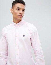 フレンチコネクション メンズ シャツ トップス French Connection Oxford Button Down Logo Shirt Soft pink