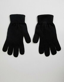 エイソス レディース 手袋 アクセサリー ASOS DESIGN touch screen gloves in recycled polyester Black