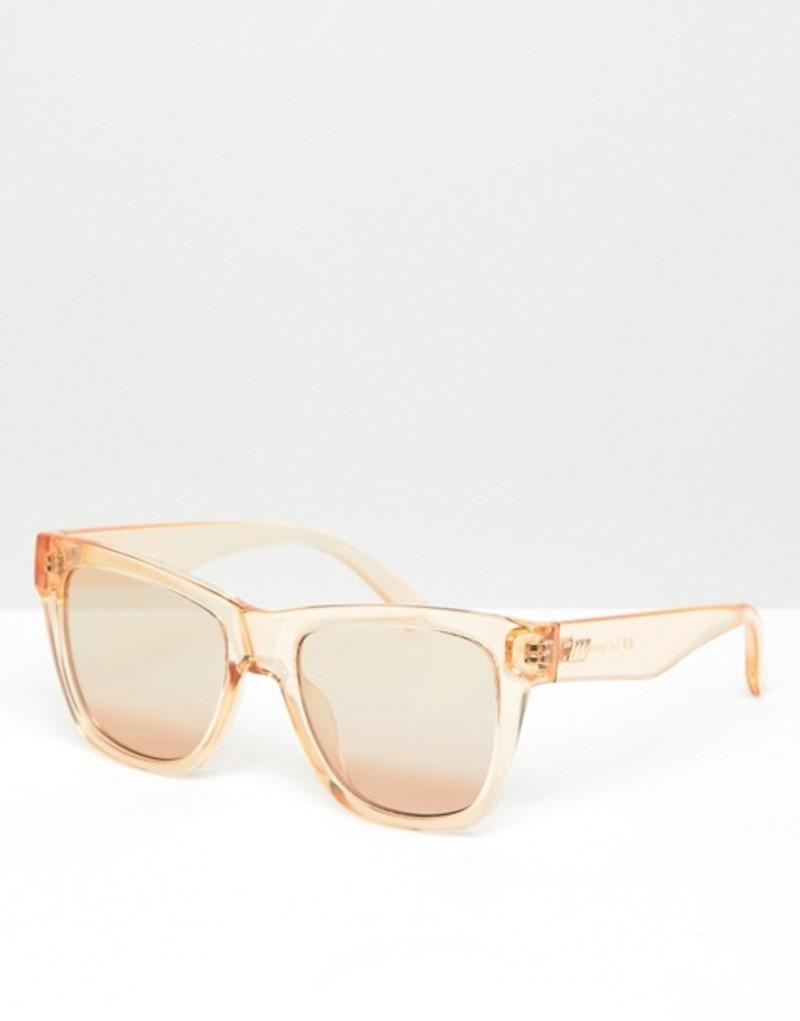 ルスペックス メンズ サングラス・アイウェア アクセサリー Le Specs Escapade square sunglasses in tan Brown