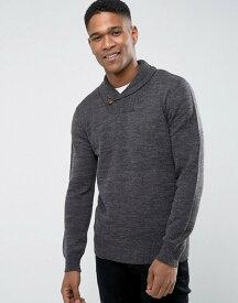 フレンチコネクション メンズ ニット・セーター アウター French Connection Lamb Shawl Collar Sweater Grey
