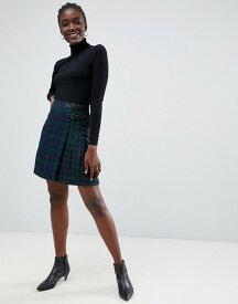 ウエアハウス レディース スカート ボトムス Warehouse mini skirt in plaid check Green