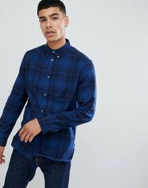 フレンチコネクション メンズ シャツ トップス French Connection Large Over Check Shirt Blue