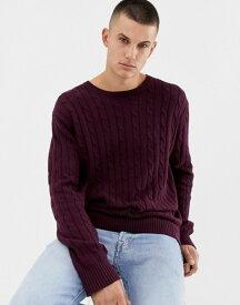 フレンチコネクション メンズ ニット・セーター アウター French Connection 100% Cotton Logo Cable Knit Sweater Chateaux