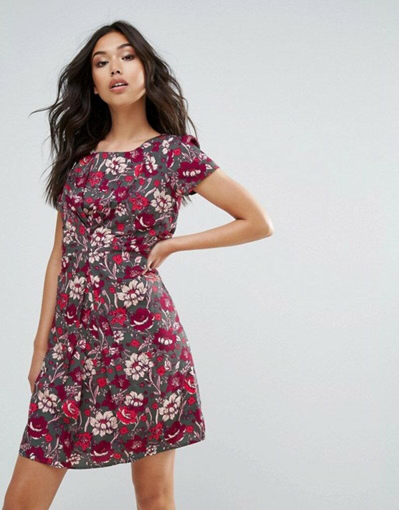 ユミキム レディース ワンピース トップス Yumi Floral Printed Tea Dress Grey