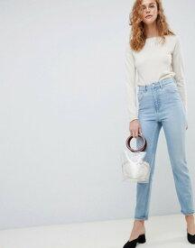 エイソス レディース デニムパンツ ボトムス ASOS DESIGN Farleigh high waist slim mom jeans in light blue Light blue