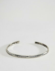 b68bde7253dc エイソス メンズ ブレスレット・バングル・アンクレット アクセサリー ASOS DESIGN bangle with emboss in  burnished silver