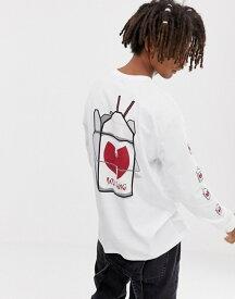 エイソス メンズ Tシャツ トップス ASOS DESIGN Wu-tang Clan relaxed long sleeve t-shirt White