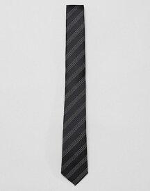 フレンチコネクション メンズ ネクタイ アクセサリー French Connection dot striped tie Black/charcoal/white