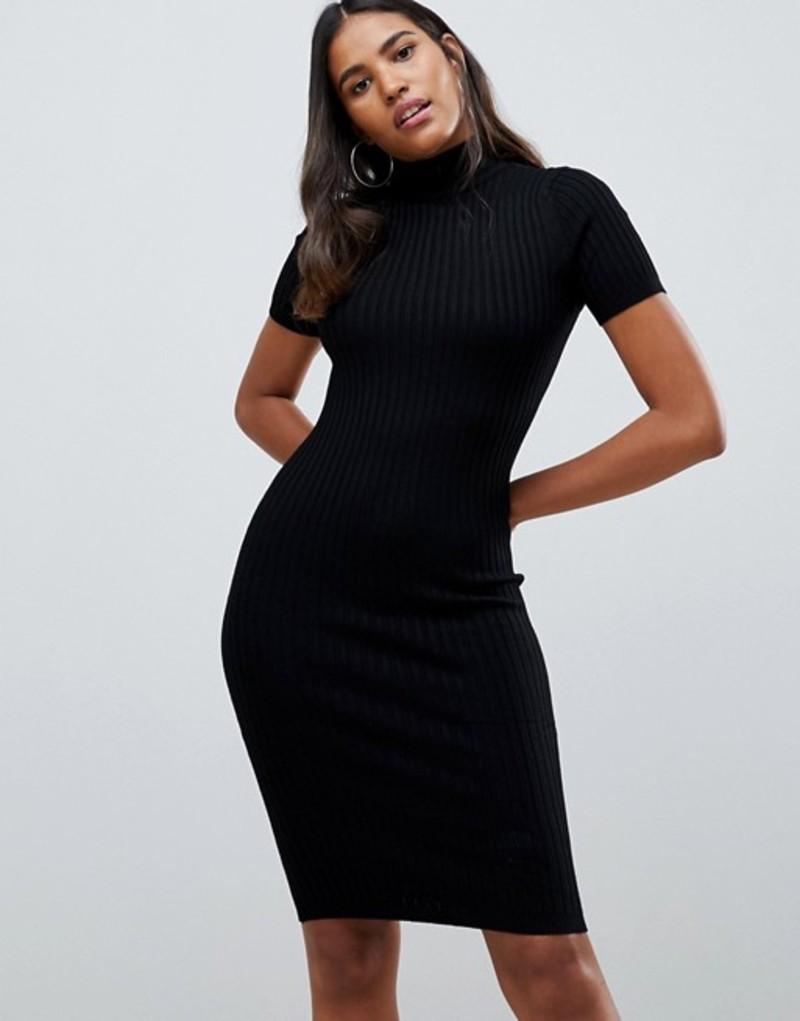 ノイジーメイ レディース ワンピース トップス Noisy May Rimi high neck knit dress Black