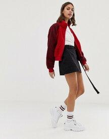 プルアンドベアー レディース スカート ボトムス Pull&Bear zip detail denim skirt in Black Black