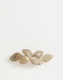 エイソス レディース ヘアアクセサリー アクセサリー ASOS DESIGN barette hair clip in leaf detail in gold Gold