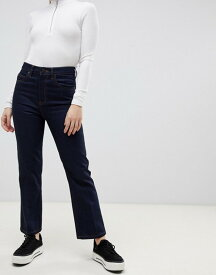 エイソス レディース デニムパンツ ボトムス ASOS DESIGN Recycled Egerton rigid cropped flare jeans in indigo Indigo