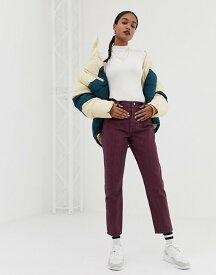 エイソス レディース デニムパンツ ボトムス ASOS DESIGN Ritson mom jeans with waist seam detail in oxblood stripe Multi
