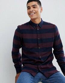 フレンチコネクション メンズ シャツ トップス French Connection Stripe Flannel Shirt Bordeaux/marine