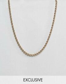 リクレイム ヴィンテージ メンズ ネックレス・チョーカー アクセサリー Reclaimed Vintage inspired rope chain necklace in gold exclusive to asos Gold