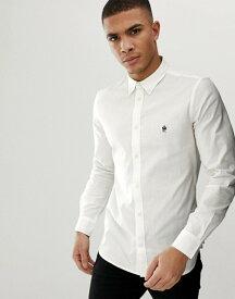 フレンチコネクション メンズ シャツ トップス French Connection long sleeve oxford shirt White