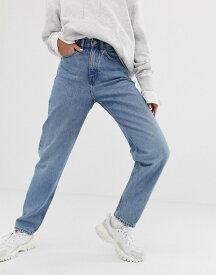 ウィークデイ レディース デニムパンツ ボトムス Weekday Lash oversized mom jean in light blue Seven blue