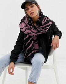 リバーアイランド レディース マフラー・ストール・スカーフ アクセサリー River Island scarf in zebra print Pink print